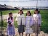 Four 11 year olds girls at Auschwitz